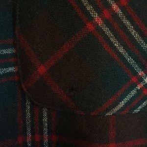 Pendleton Shirts - Pendleton Red Green Wool Flannel Shirt Sz M